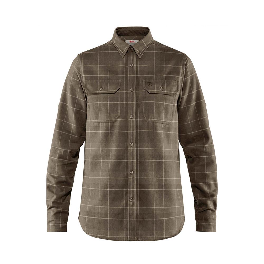 Fjällräven Singi Heavy Flanellen Shirt Dark Olive Maat S-1