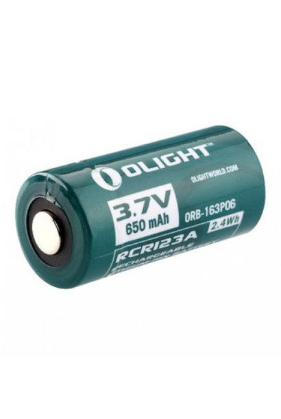 Olight Oplaadbare RCR123A Batterij 650mAh 3.7V.