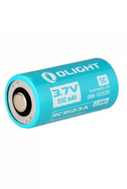 Olight Oplaadbare Batterij RCR123A 550 MAH Voor S1RII
