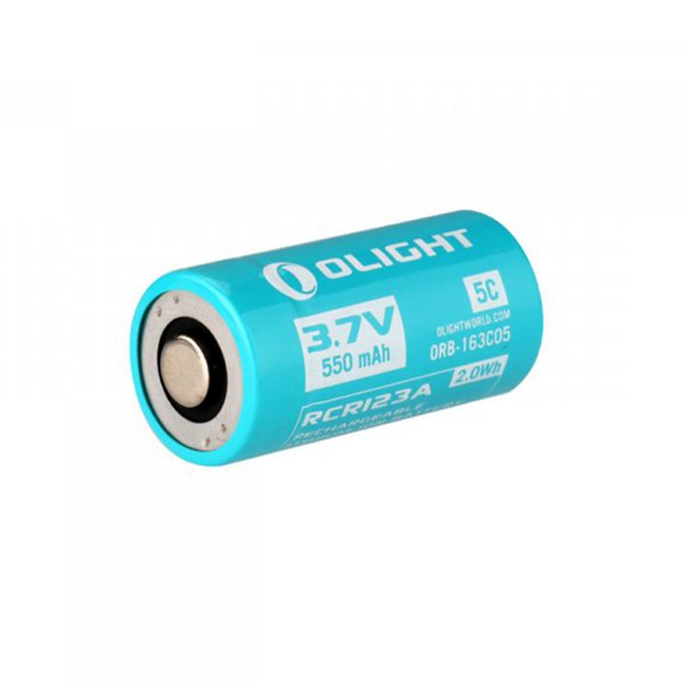 Olight Oplaadbare Batterij RCR123A 550 MAH Voor S1RII-1