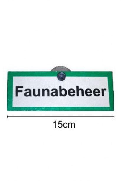 """Proloo Aluminium Signaalbord """"Faunabeheer"""""""