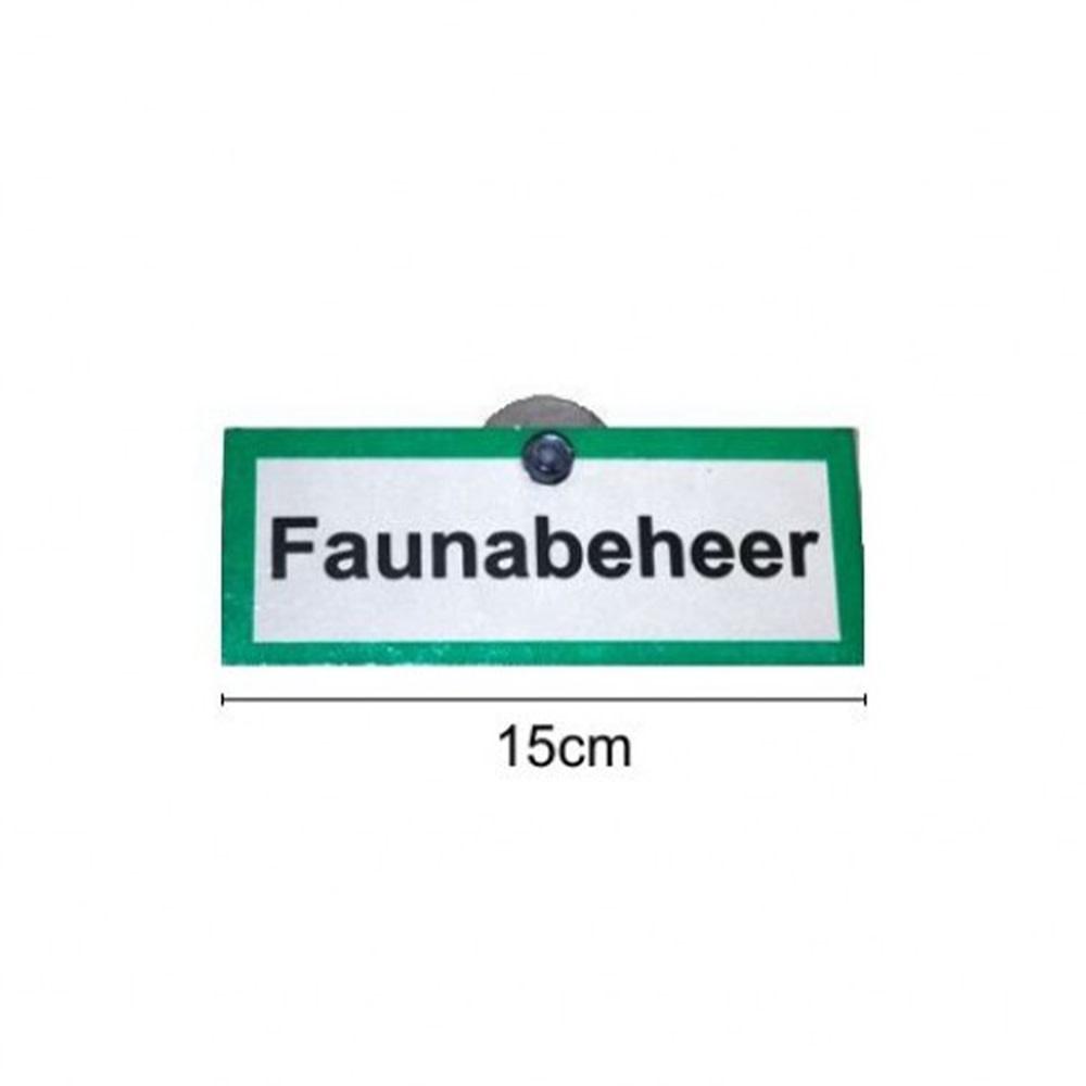 """Proloo Aluminium Signaalbord """"Faunabeheer""""-1"""
