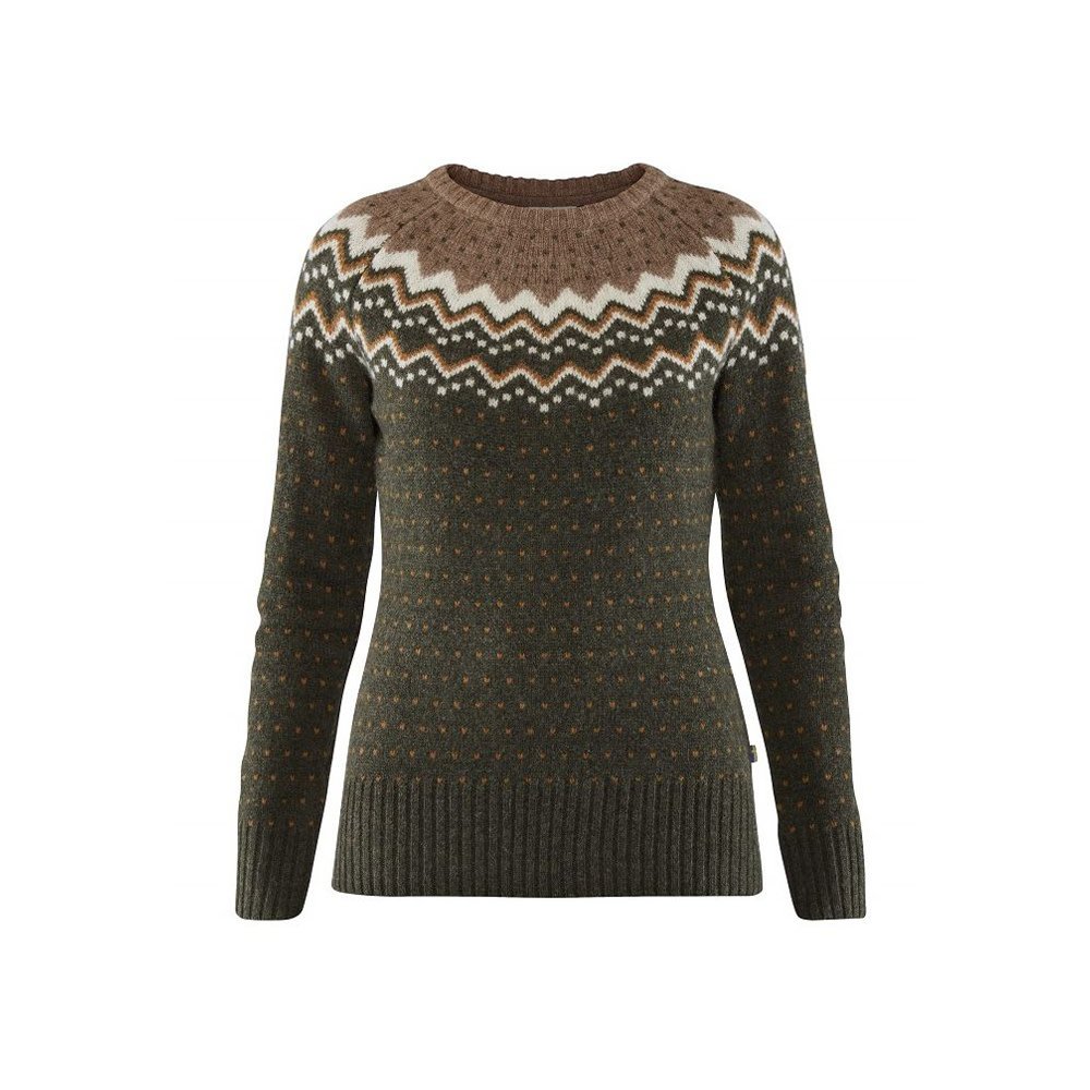 Fjällräven Övik Knit Sweater W Deep Forest-1