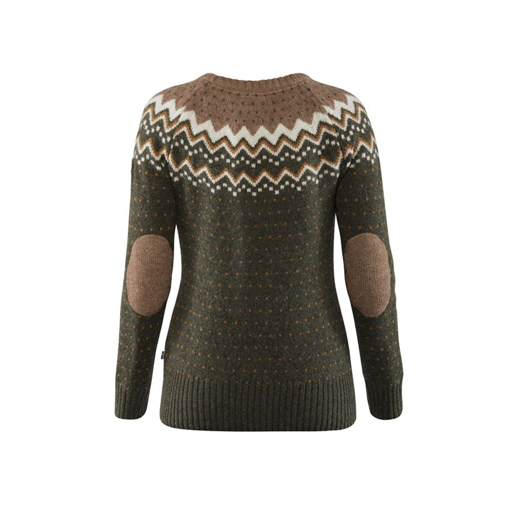 Fjällräven Övik Knit Sweater W Deep Forest-2