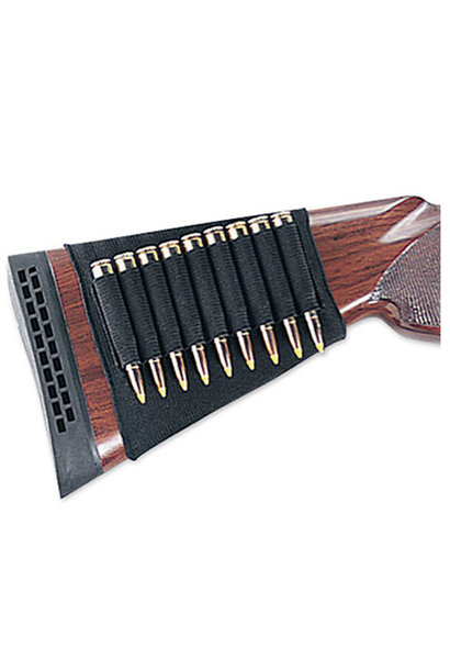 Uncle Mike's Buttstock Shell Holder, Kodra, Rifle-9 loops, Open Style