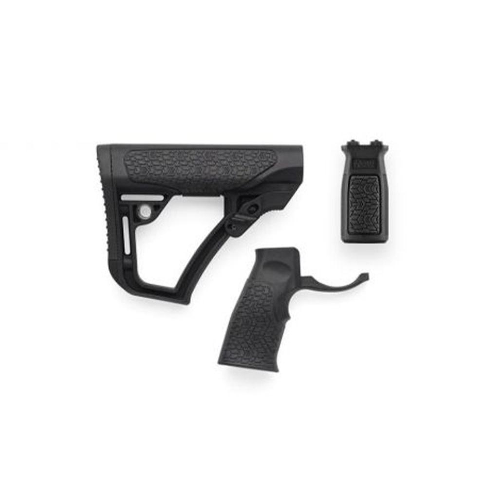 Daniel Defense Buttstock Pistol Grip & M-Lok Vertical Foregrip Combo Black-1