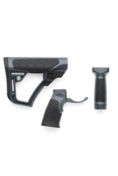 Daniel Defense Buttstock Pistol Grip & M-Lok Vertical Foregrip Combo Mil Tornado Grey