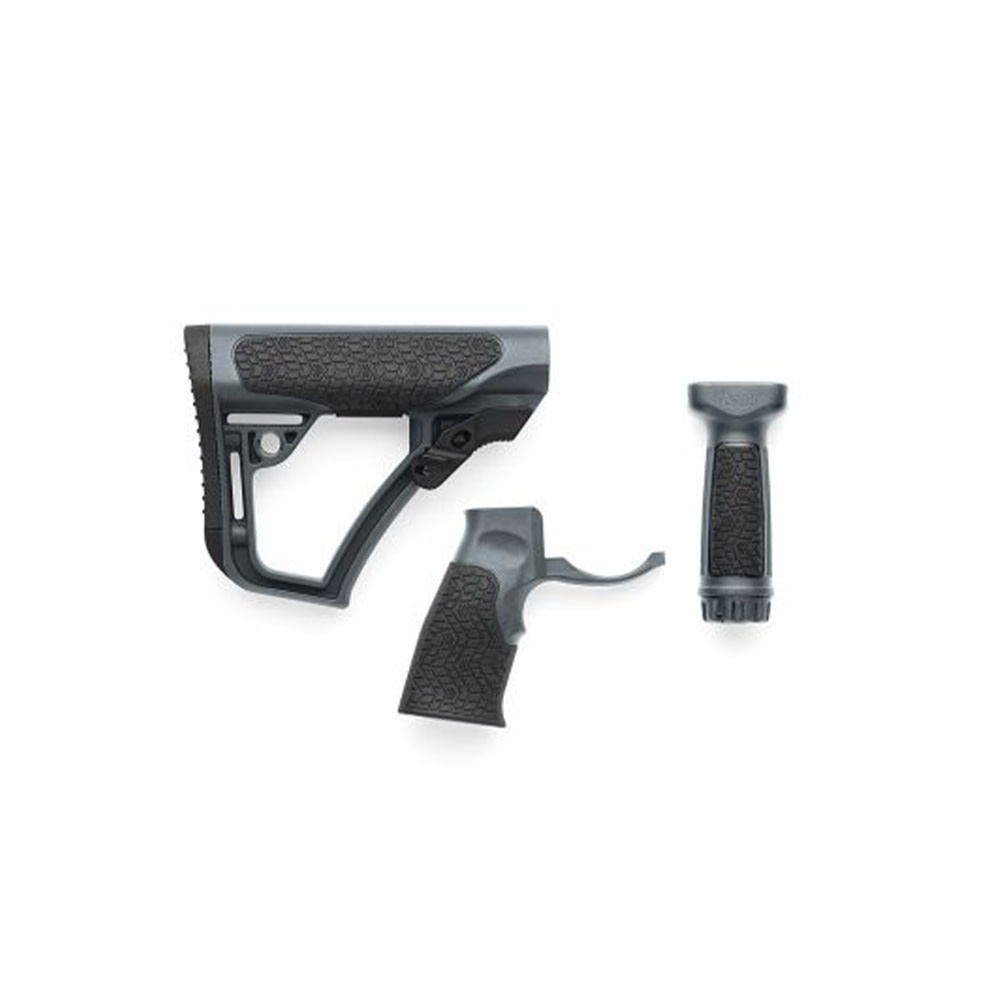 Daniel Defense Buttstock Pistol Grip & M-Lok Vertical Foregrip Combo Mil Tornado Grey-1