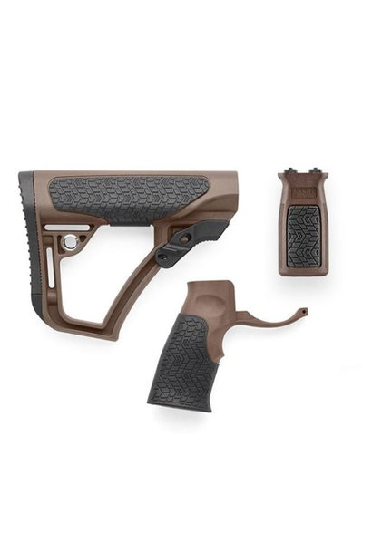 Daniel Defense Buttstock Pistol Grip & M-Lok Vertical Foregrip Combo Mil Spec+
