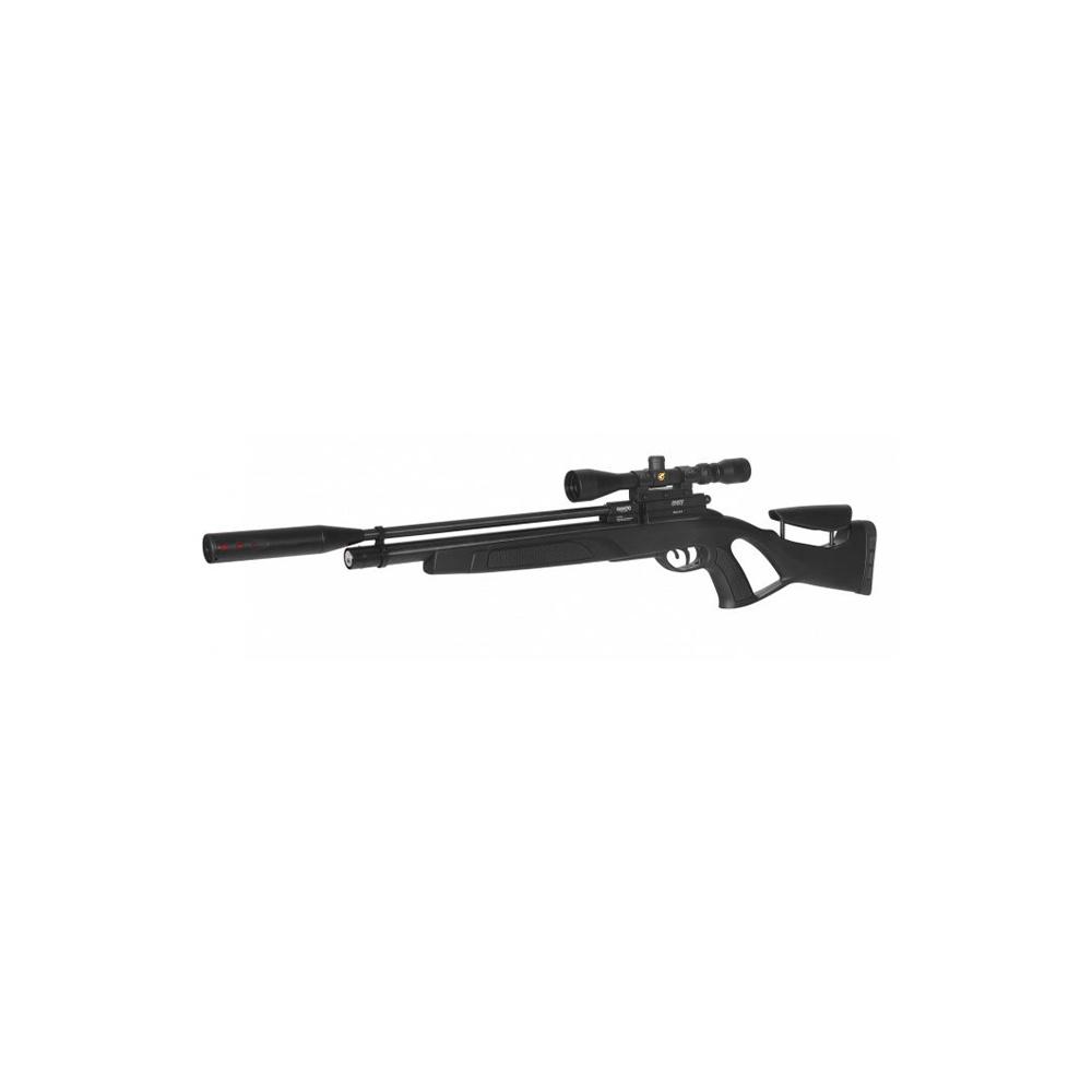 Gamo Coyote Black Whisper HP Black Tactical 5.5 + Pomp en Kijker-2