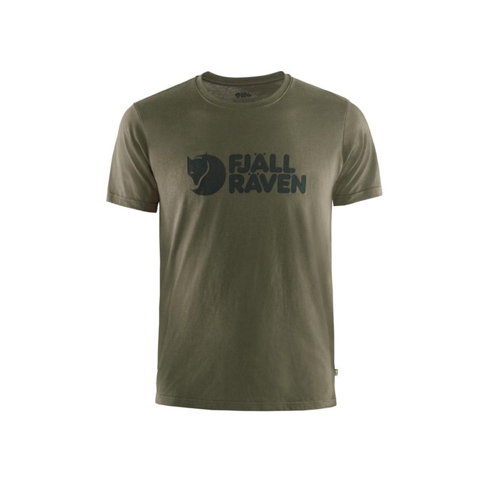 Fjällräven Logo T-Shirt - Dark Olive-1