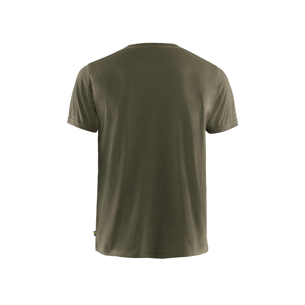 Fjällräven Logo T-Shirt - Dark Olive-2