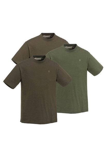Pinewood T-Shirt 3-Pack  Green/Hunting Brown/Khaki