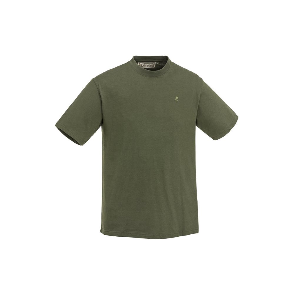 Pinewood T-Shirt 3-Pack Green/Hunting Brown/Khaki-2