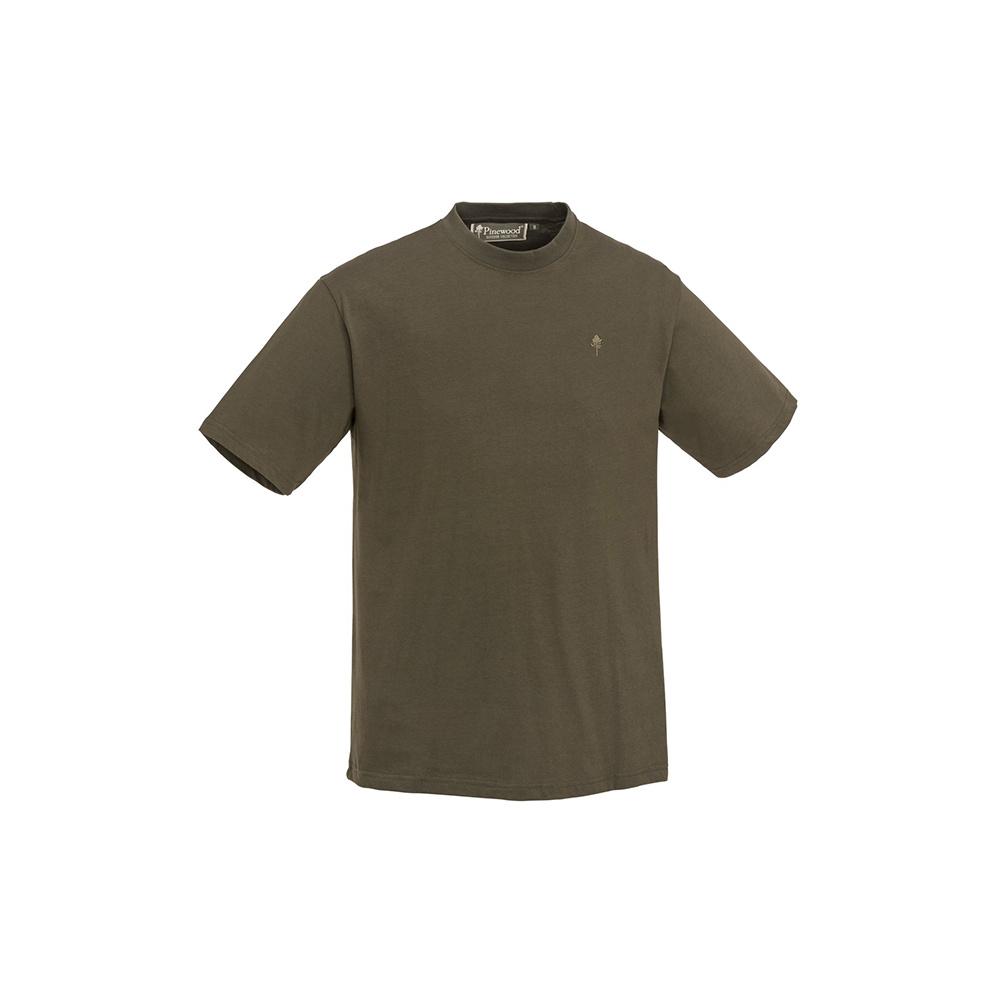 Pinewood T-Shirt 3-Pack Green/Hunting Brown/Khaki-4