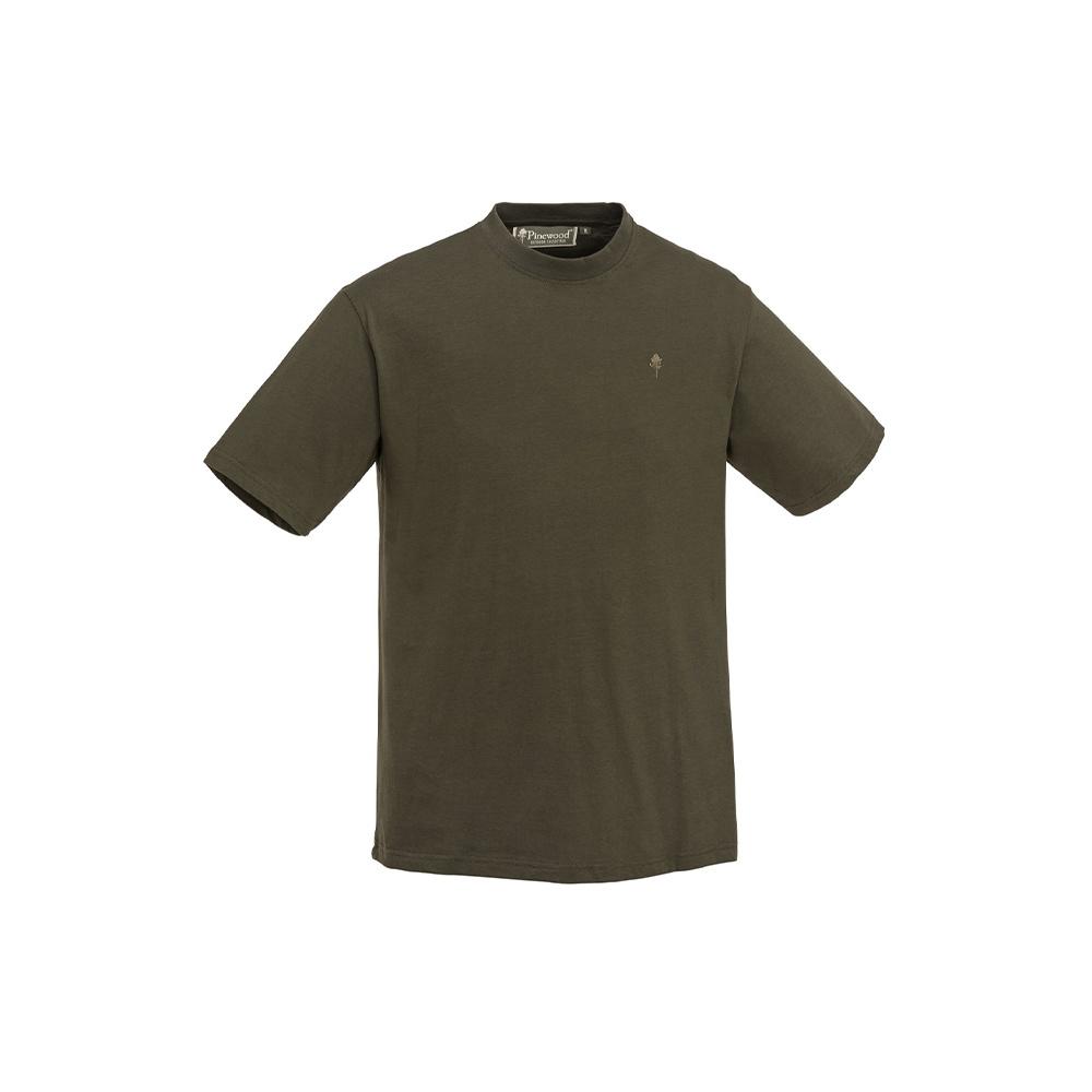 Pinewood T-Shirt 3-Pack Green/Hunting Brown/Khaki-3