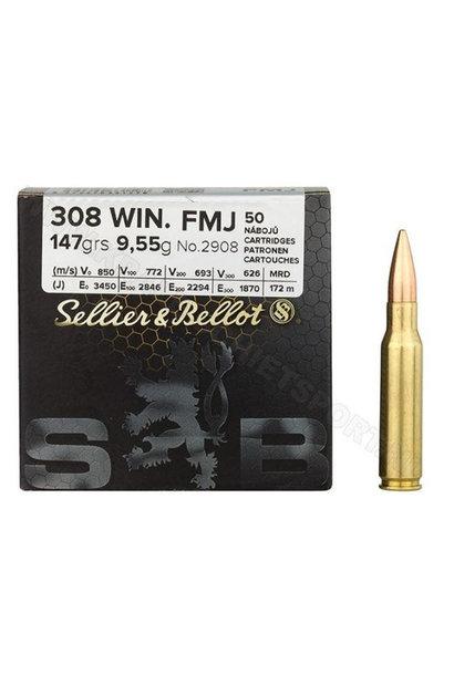 Sellier & Bellot FMJ 147gr. .308 Win. Bulk