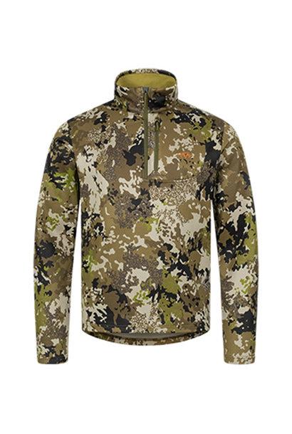 Blaser Drain Halfzip LS Shirt HunTec Camo