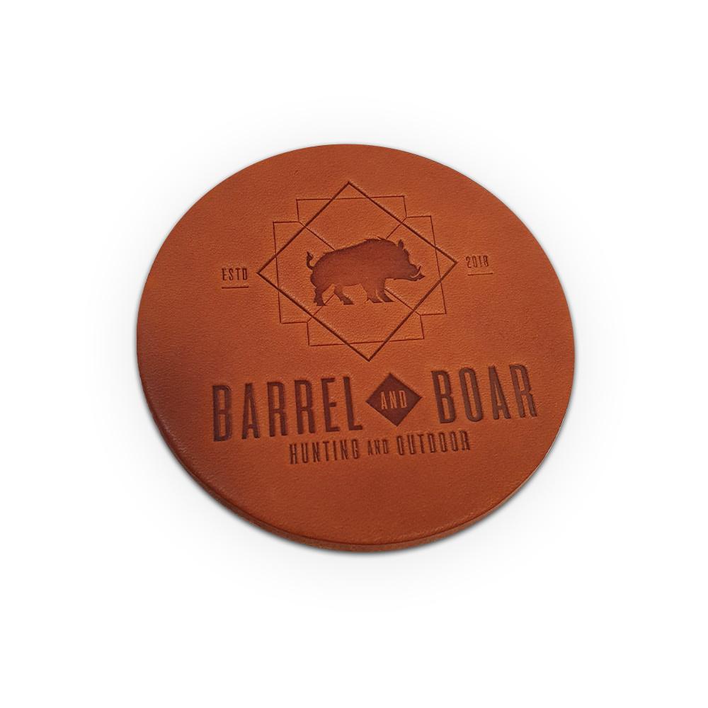Barrel and Boar 6x  Leren Onderleggers-2