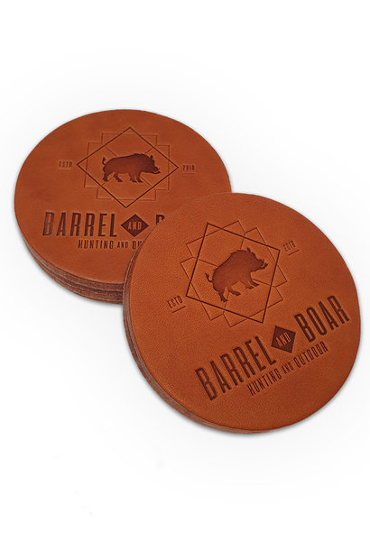 Barrel and Boar 6x  Leren Onderleggers