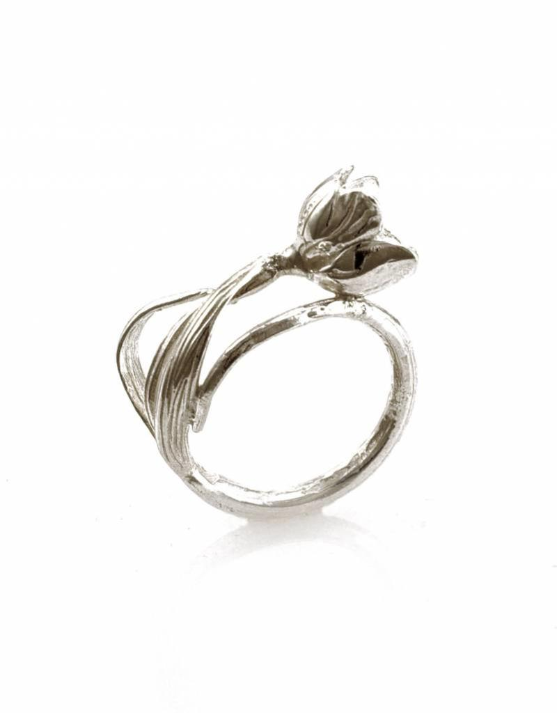 Rebels & Icons Ring ice flower - silver