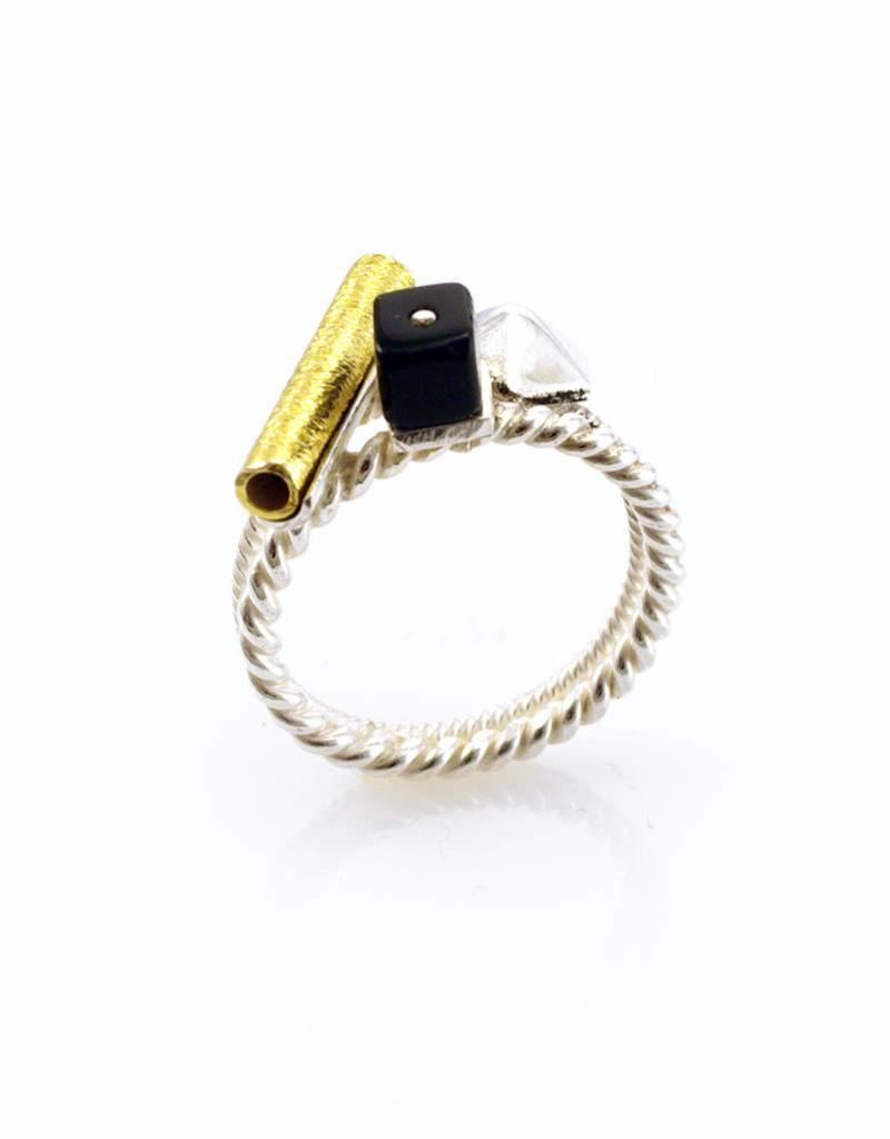 Rebels & Icons Ring hexagon - mixed