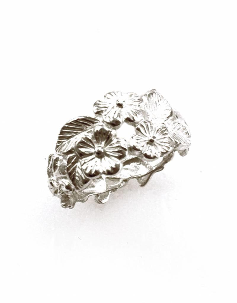 Rebels & Icons Ring kikkers & bloemen - zilver