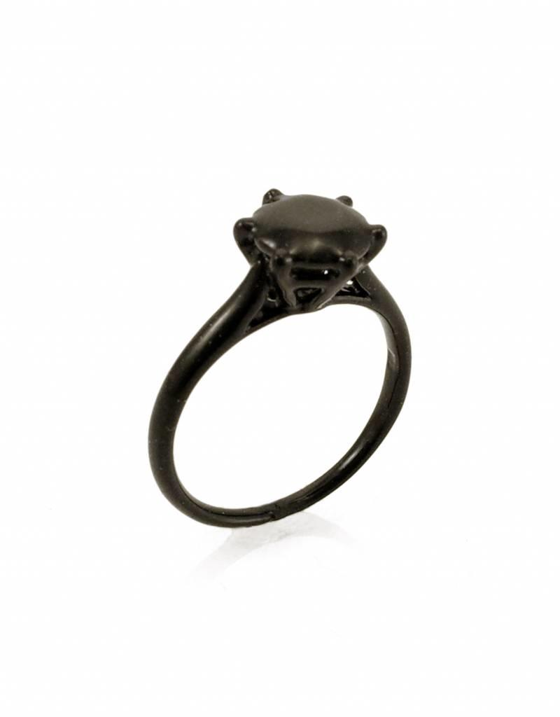 Rebels & Icons Ring solitaire - black