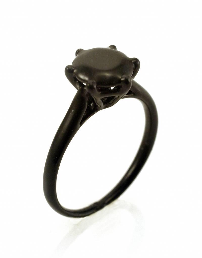 Ring solitaire - zwart