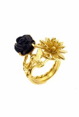 Rebels & Icons Ring kolibrie - goud