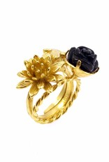 Rebels & Icons Ring humming bird - gold