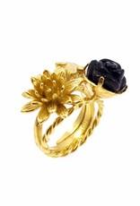 Ring kolibrie - goud