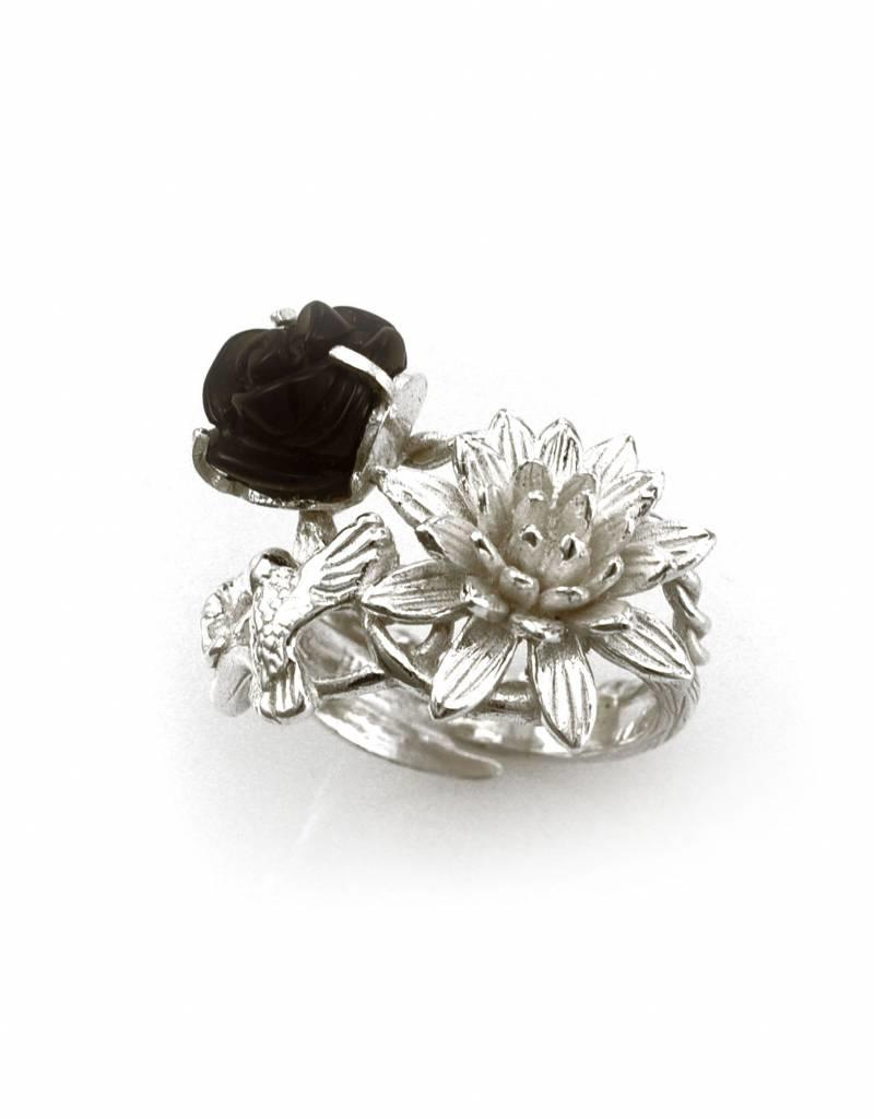 Ring kolibrie - zilver