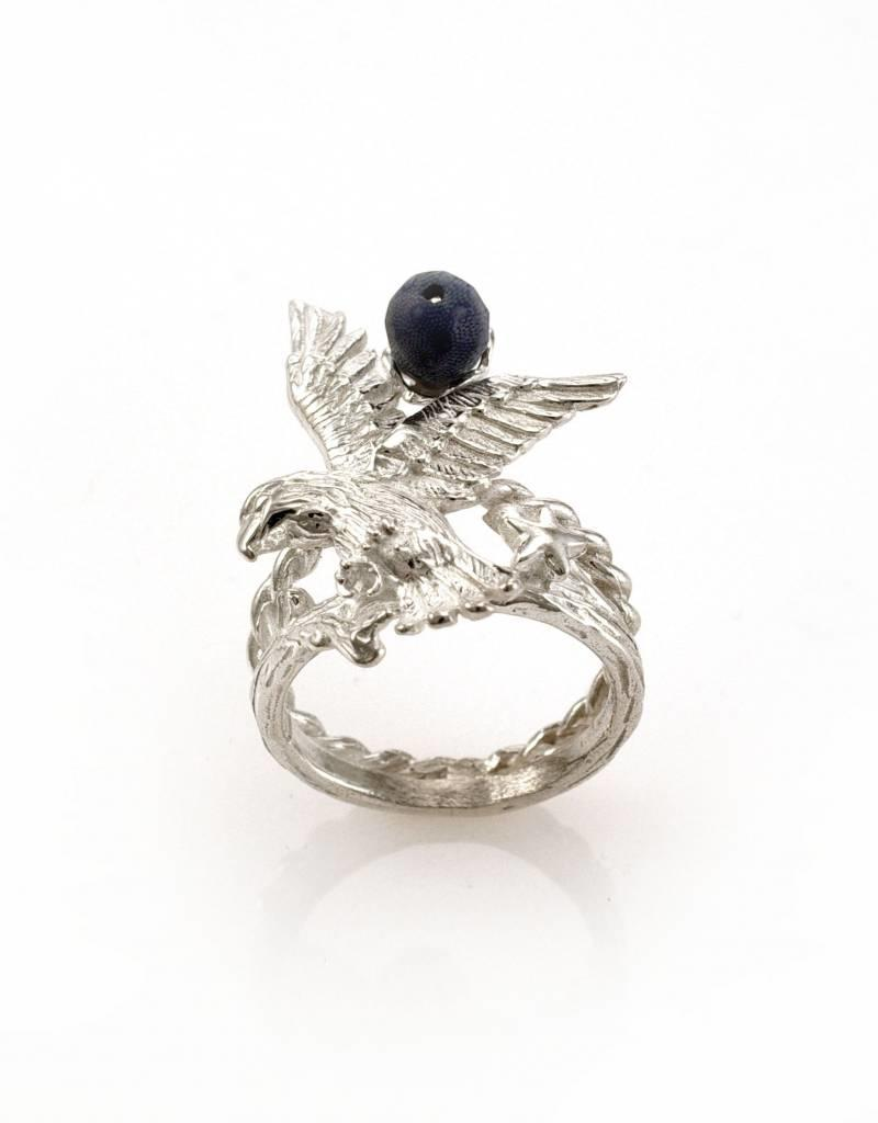 Rebels & Icons Ring arend - zilver