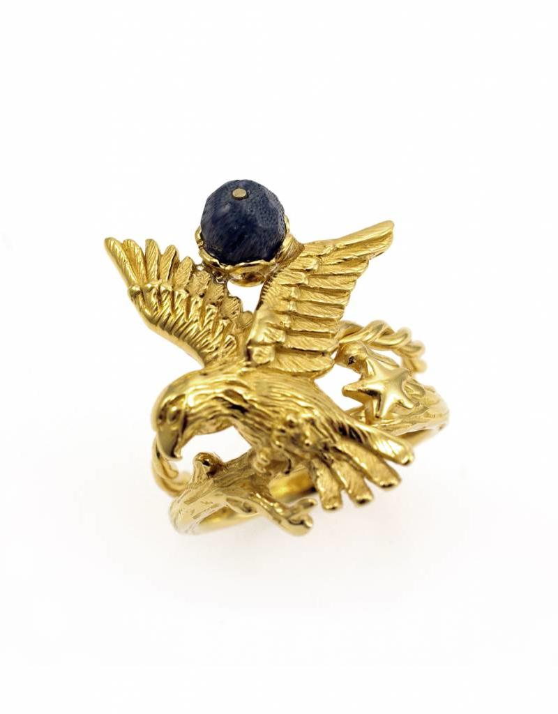 Rebels & Icons Ring eagle - gold