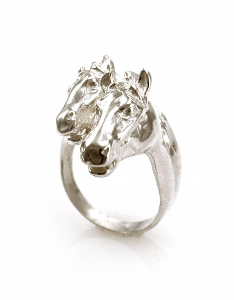 Rebels & Icons Ring 2 horses - silver
