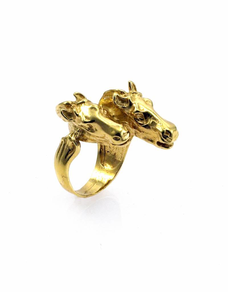 Ring 2 paarden - goud