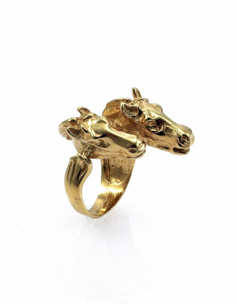 Rebels & Icons Ring 2 horses - gold