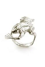 Kikkerring - zilver