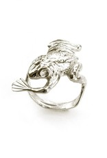 Rebels & Icons Ring frog - silver
