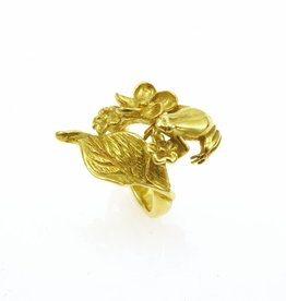 Rebels & Icons Ring frog & leaf