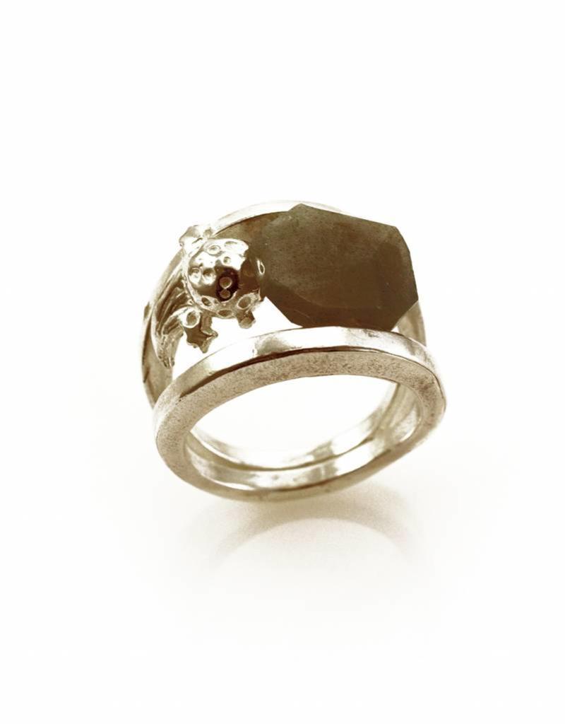 Ring komeet - zilver