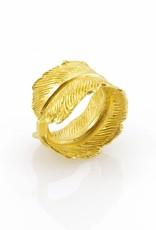 Ring pluim - goud