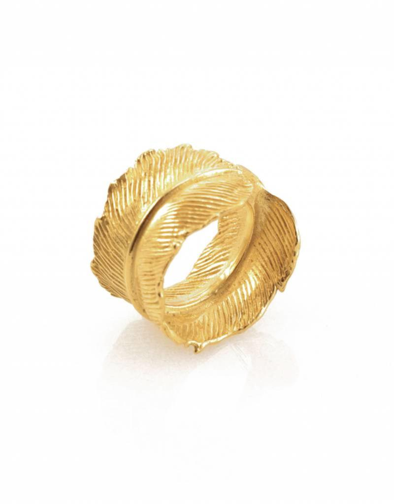 Rebels & Icons Ring feather - gold
