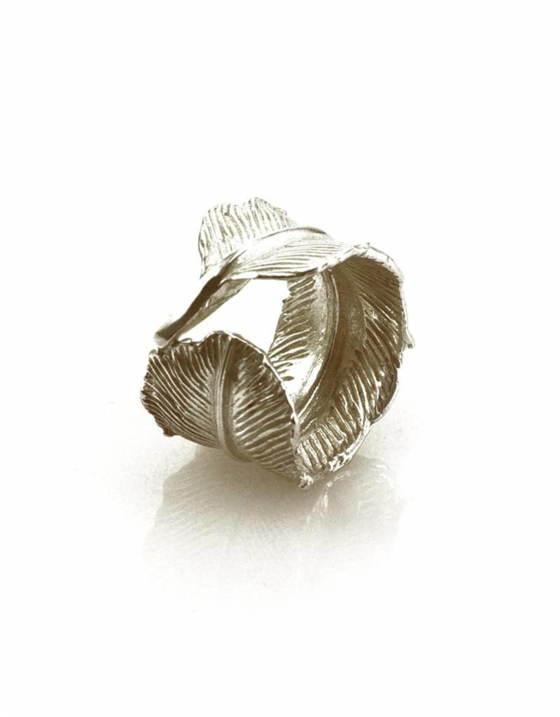Rebels & Icons Ring feather - silver