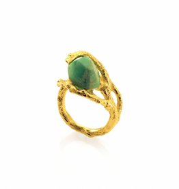 Ring branch & chrysoprase