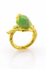 Rebels & Icons Ring tak & chrysopraas - goud