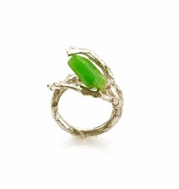 Rebels & Icons Ring branch & chrysoprase