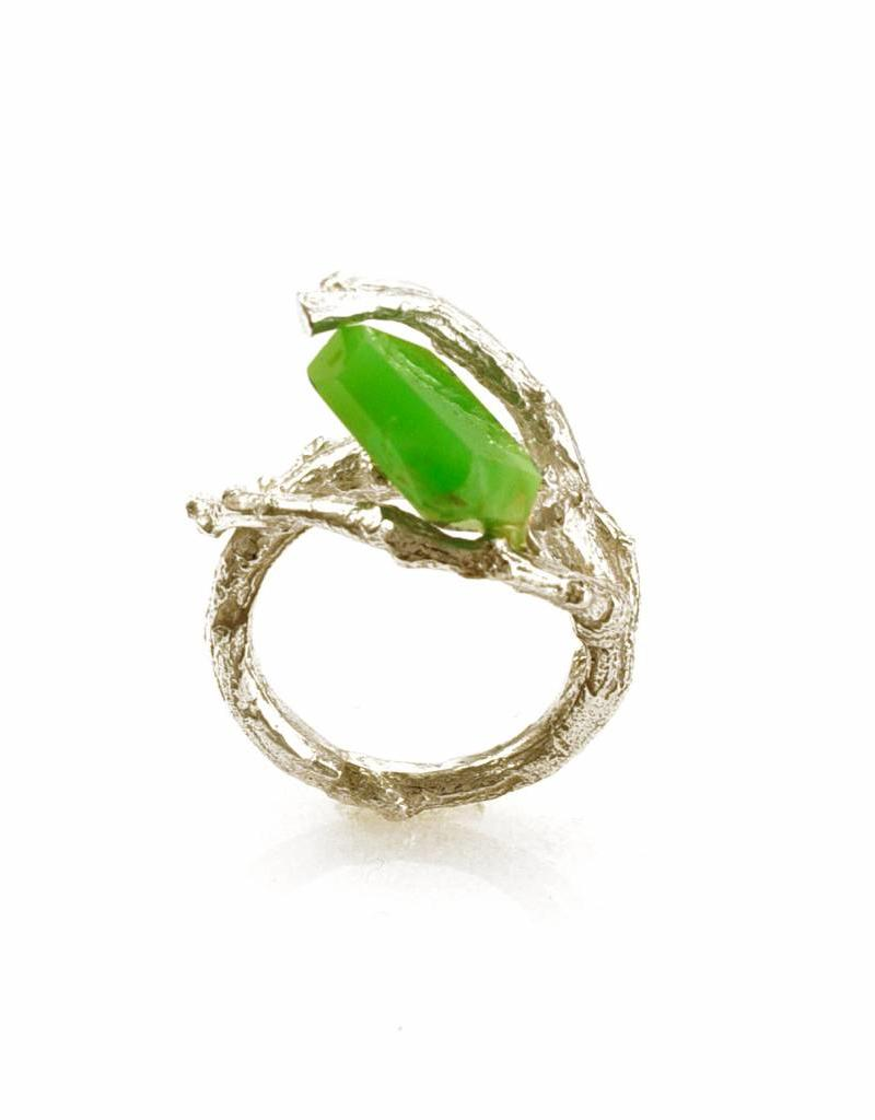 Rebels & Icons Ring tak & chrysopraas - zilver
