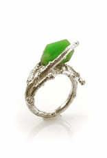 Rebels & Icons Ring branch & chrysoprase - silver